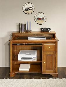 Petit Bureau Pour Ordinateur : meubles pour ordinateur et imprimante 9 petit bureau informatique elise en merisier de style ~ Teatrodelosmanantiales.com Idées de Décoration