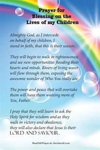 Prayer for My Blessings Children