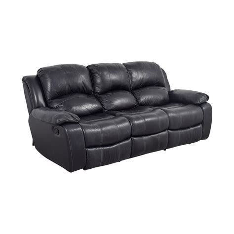 black leather reclining sofa black leather recliner sofas furniture reclining leather