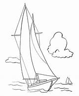Coloring Sailboat Pages Boats Yacht Sail Template Sheets Popular Bluebonkers Ships sketch template