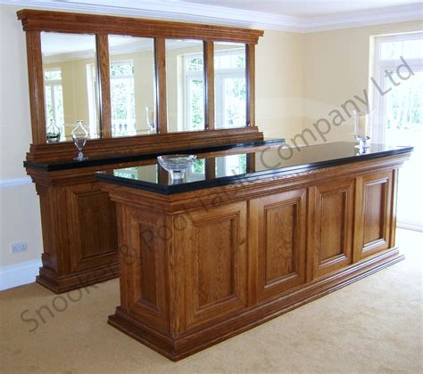 Wooden Home Bar by Connoisseur Traditional Bar Snooker Pool Table Company Ltd