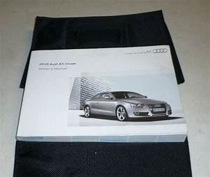 2010 Audi A5 Coupe Owners Manual Set Guide 10 W  Case 2 0t