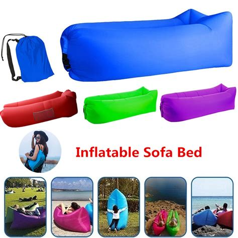 Folds compactly for storage or travel. Outdoor camping fast inflatable sofa inflatable sleeping bag lounger bed Fast Folding Sofas ...
