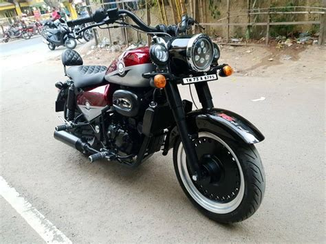 Modification Black by Royal Enfield Classic 350 Modified To Look Like Harley