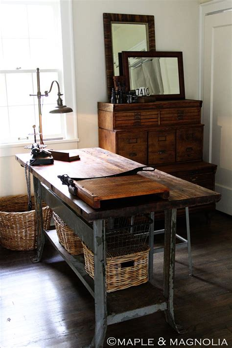 industrial style home office desk restored honeyofa work table the top has been sanded and