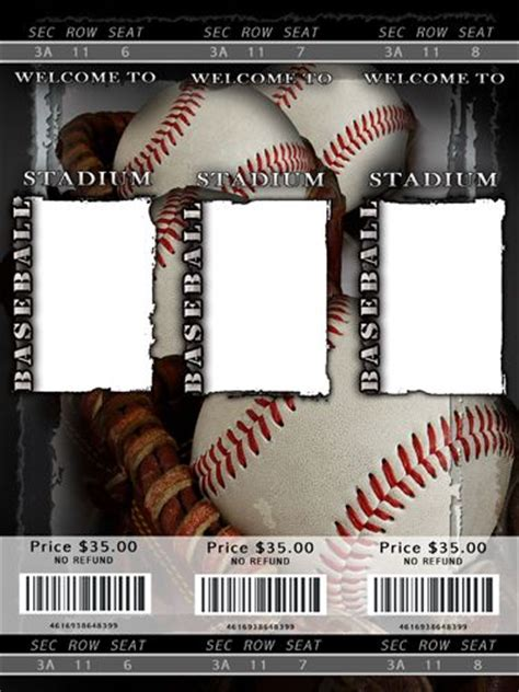 blank baseball ticket template staging  home