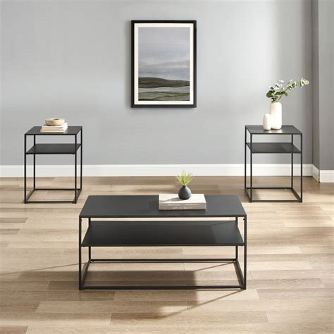Includes coffee table and 2 end tables. Crosley Furniture - Braxton 3 Piece Coffee Table Set Matte ...