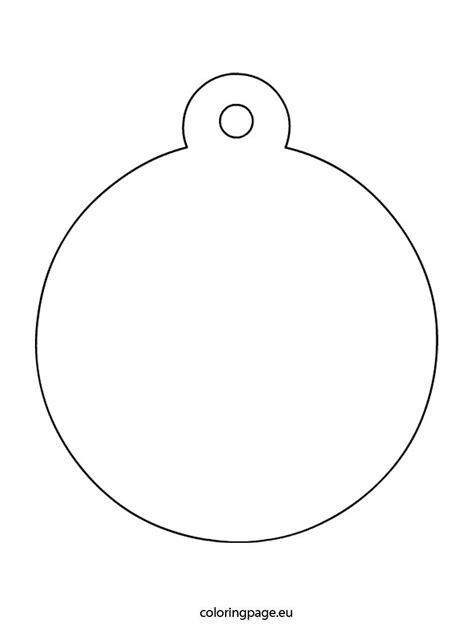 Bauble Templates Printable - Printable Pages