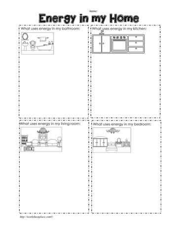 home energy worksheet worksheets