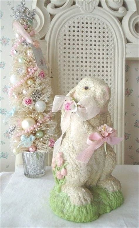 shabby chic easter holiday decorations  girl