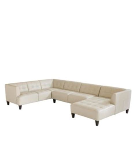 alessia leather sectional sofa 2 piece chaise 109 quot w x 65
