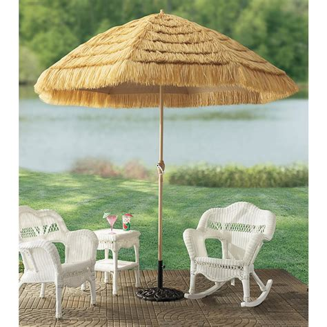 9 thatched tiki umbrella 100699 patio furniture at
