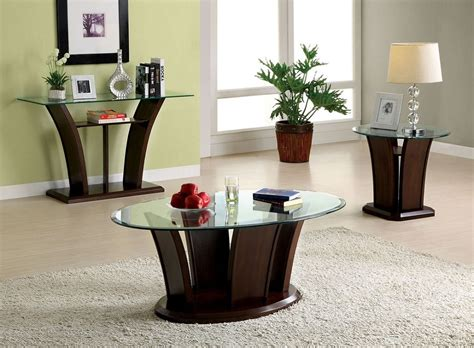 11 gorgeous glass coffee tables for an open, airier room. Keystone Dark Cherry Unique Wood Base Glass Top Coffee Table