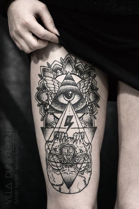 thigh tattoo designs   woman pretty designs