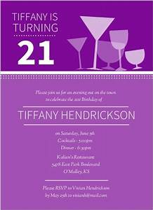 Cocktail Glasses 21st Birthday Invitations | 21st Birthday ...