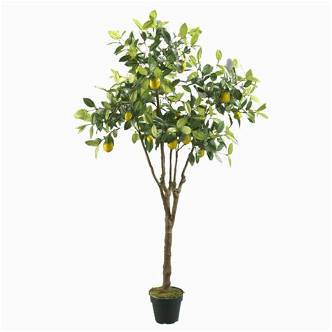 artificial lemon tree with pvc pot fruit trees