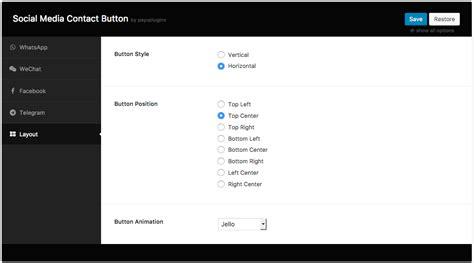 Venta Social Media Contact Button By Payuplugins