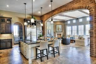 backsplash kitchen design incorporating exposed bricks in stylish designs around the house