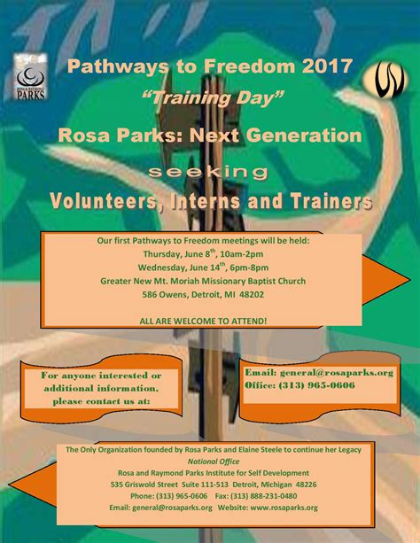 Pathways To Freedom Training Day Rosa Parks