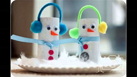 easy winter crafts  kids youtube