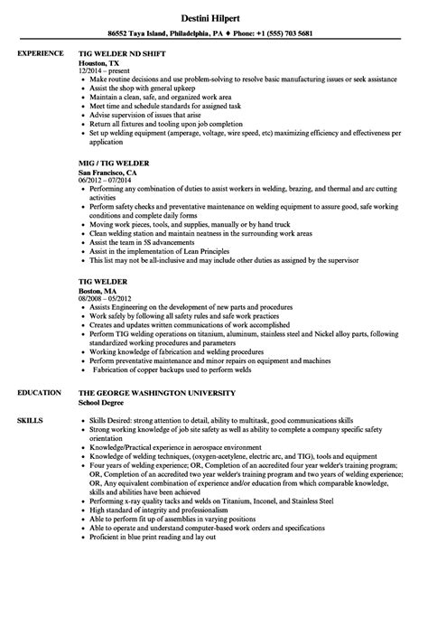 Welder Resume Word Format - Best Resume Ideas