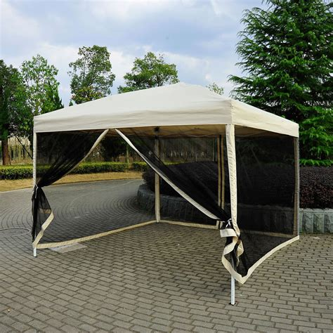 canopy with screen 10 x 10 pop up tent mesh screen gazebo popup canopy