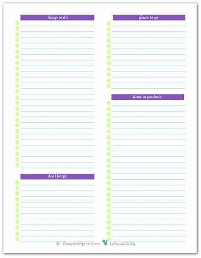 Note Printables Forget Half Printable Planner Things