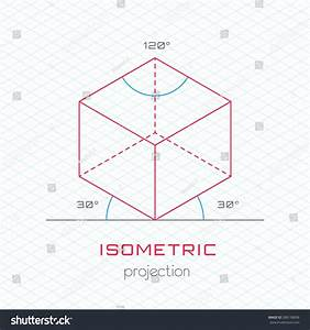 Frame Object Axonometric Perspective Isometric Grid Stock