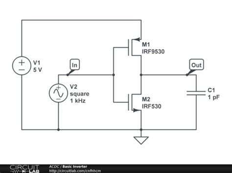 Basic Cmos Inverter Circuitlab