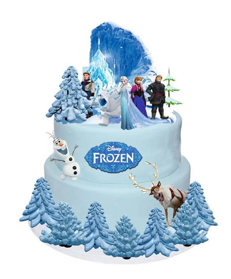 frozen disney 1 set cake party stands up toppers wafer