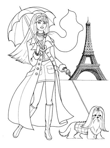 french style coloring page supercoloringcom