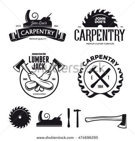 carpenter design elements  vintage style  logo label