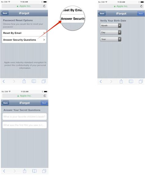 how to reset apple id on iphone how to reset a forgotten icloud itunes or app