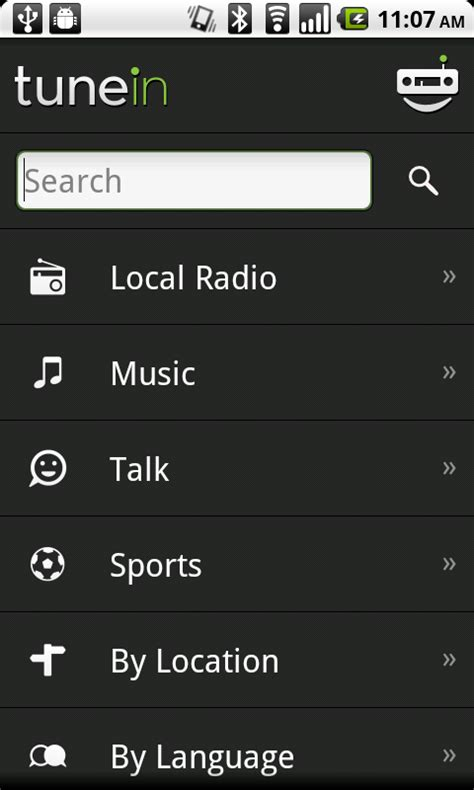 tunein radio android android app tunein radio android central