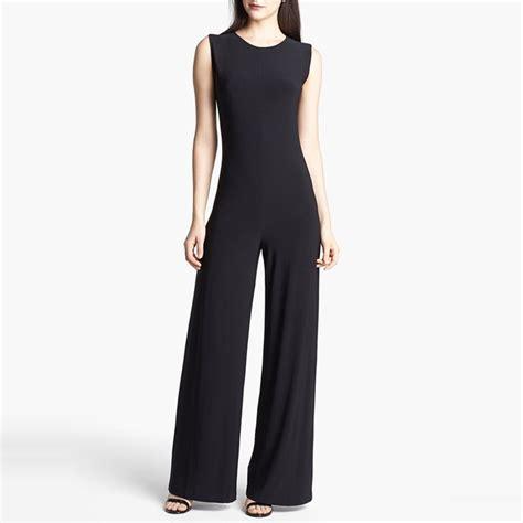 black wide leg jumpsuit rank style kamalikulture wide leg jersey jumpsuit