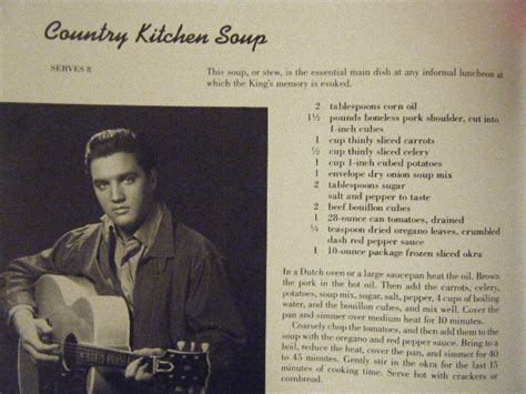 Elvis' Country Kitchen Soup & Mustard Greens With Potatoes