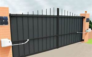 Portail Electrique Solaire : portail lectrique solaire kit portail solaire kit solaire ~ Edinachiropracticcenter.com Idées de Décoration