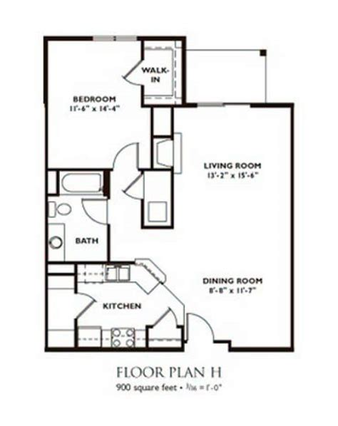 one bedroom house plans madison apartment floor plans nantucket apartments madison 16556 | 1 bedroom floor plan plan h