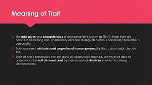 Allport U2019s Trait Theory Of Personality