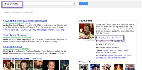 chuck norris easter egg google knowledge graph easter eggs hallam internet