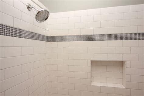 mosaic tile ideas for bathroom subway tile bath subway tile with mosaic accent