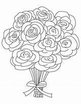 Bouquet sketch template