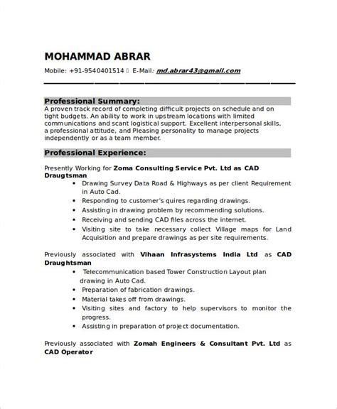resume format for hvac draftsman draftsman resume templates free word pdf document