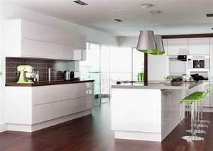 Rimini Handleless - White - Pebble Kitchens
