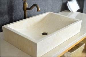 Lavabo En Pierre Naturelle : beautiful salle de bain lavabo pierre images amazing ~ Premium-room.com Idées de Décoration