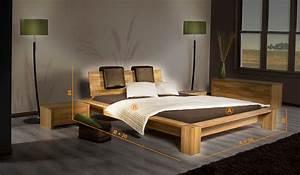 Lit En Bois 160x200 : lit 2 places en bois massif james bas chambre coucher en ch ne massif luxe ~ Teatrodelosmanantiales.com Idées de Décoration