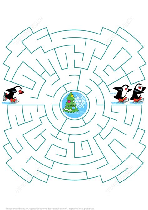 skating penguin  join  friends maze