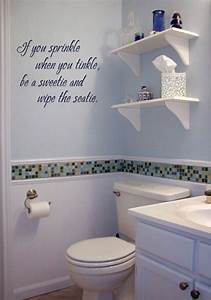 17 best images about put the writing on the wall on for Cute sayings for bathroom walls