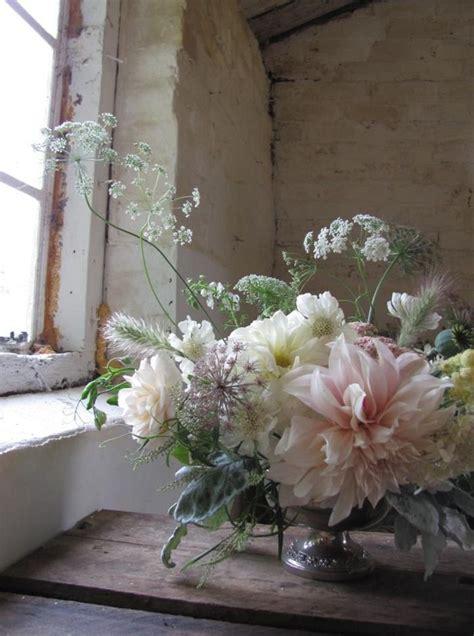 stunning dahlia flower arrangement   compote vase