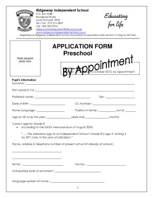 preschool application printable daycare applications appli 679 | 15826353